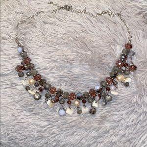 2/15$ Beauty gray beaded necklace